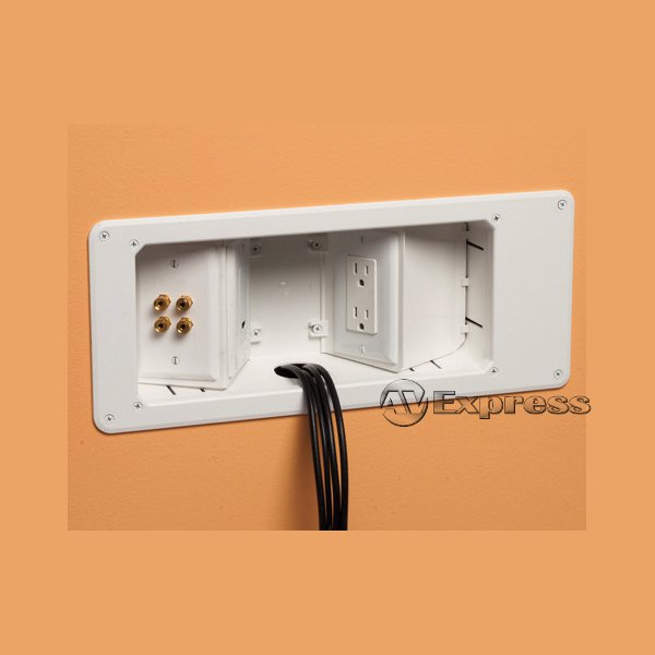 Recessed Angled Tv Box For Audio Video Installations