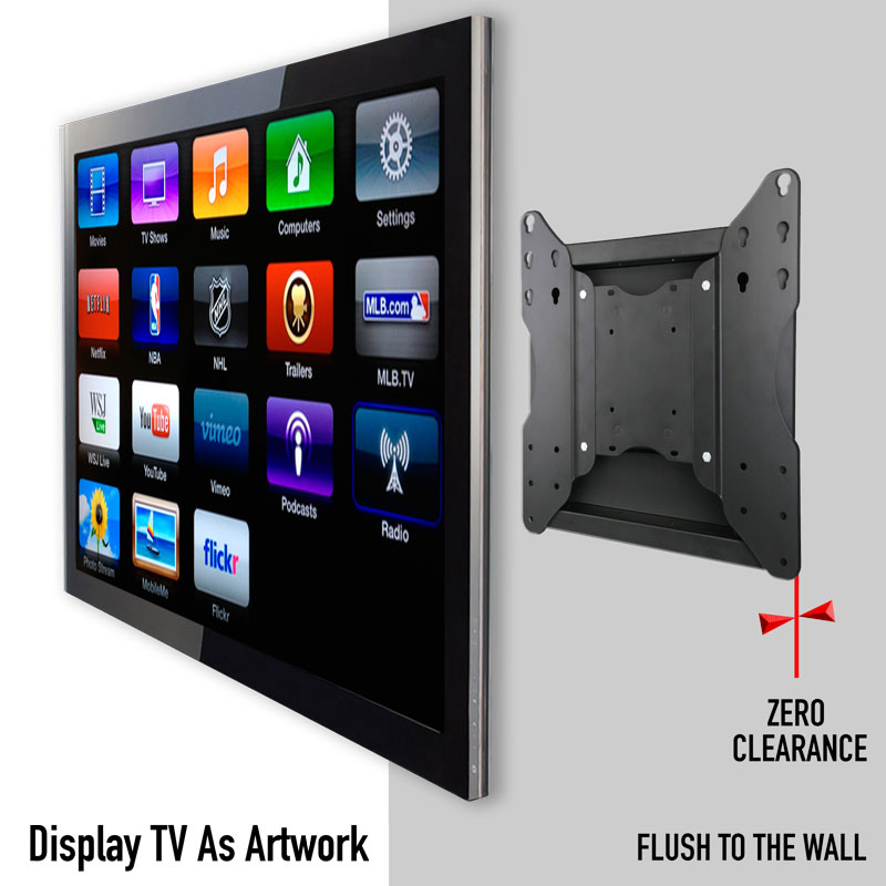 Recessed In Wall Tv Mount Full Motion Tv Wall Mount Free