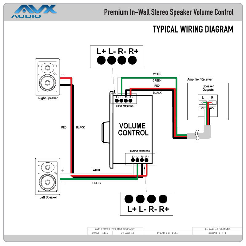 volume controls in-wall stereo volume control switch with ... 3 way switch wiring diagram junction box with load in middle line at one switch rheostat switch wiring diagram