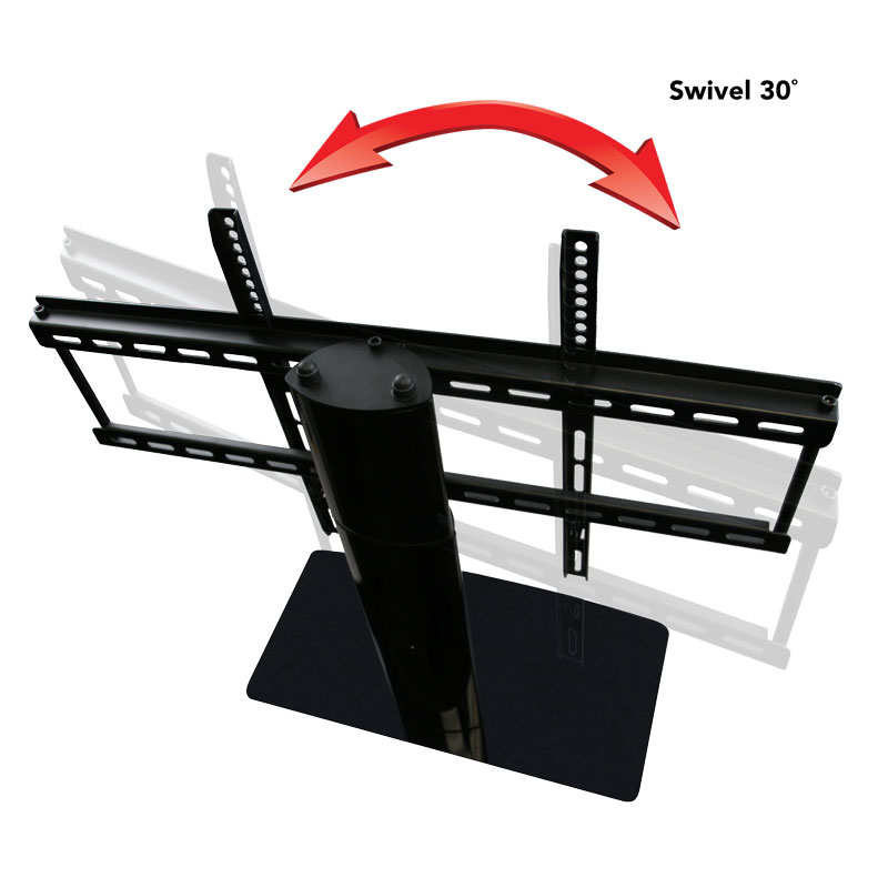 Superbe Universal Tabletop TV Stand With Swivel And Height Adjustable