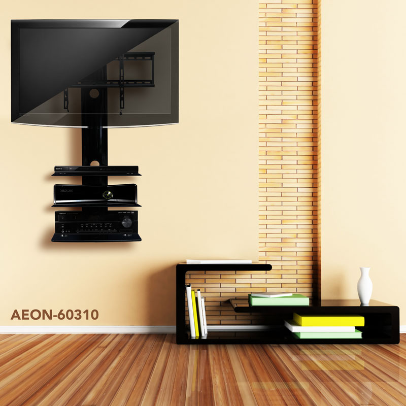 Tv wall mount with three shelves tv mounts av express - Best tv wall mount ...