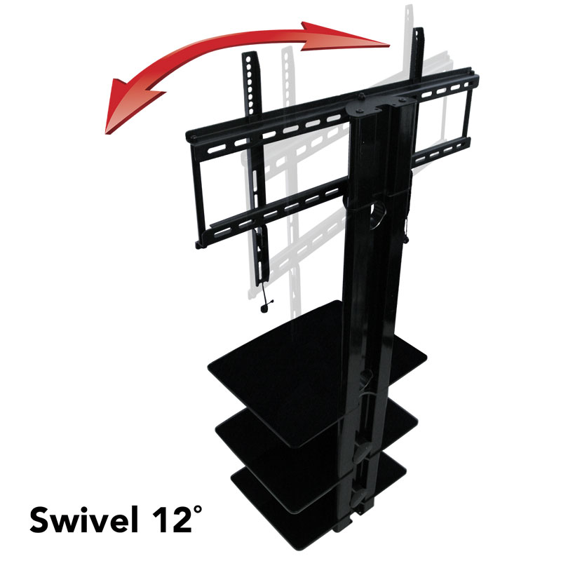 Tv Wall Mount With Three Shelves Tv Mounts Av Express