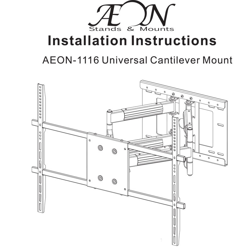 corner tv mount with long extension