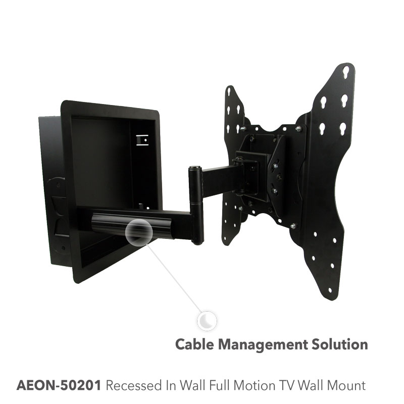 recessed in wall tv mount full motion tv wall mount free shipping av express. Black Bedroom Furniture Sets. Home Design Ideas