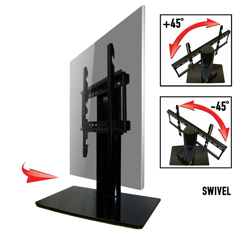 Universal Tabletop TV Stand With Swivel And Height Adjustment For 23 To 50 TVs