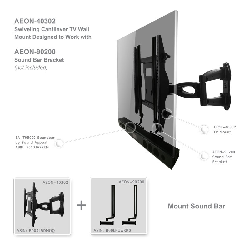 Swivel Tv Mount Corner Wall Mount 37 To 55 Inch For Lcd