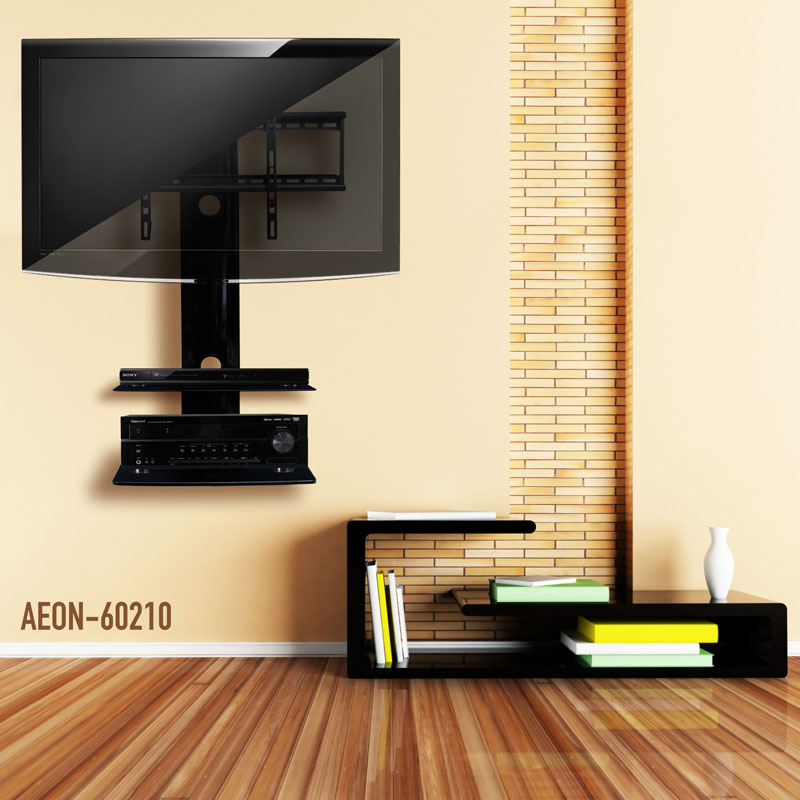 TV Wall Mount With Shelf - 2 Shelves | TV Mounts | AV Express