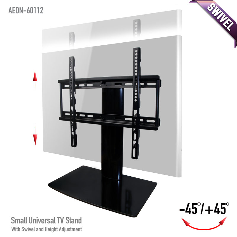 Universal Tabletop Tv Stand Aeon 60112 Swivel I Height Adjustment