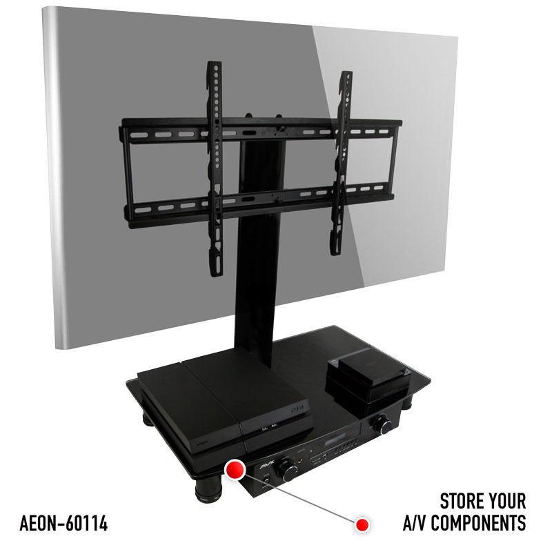 Universal TV Stand With Storage   Fits Samsung, Vizio, LG, Sony And More