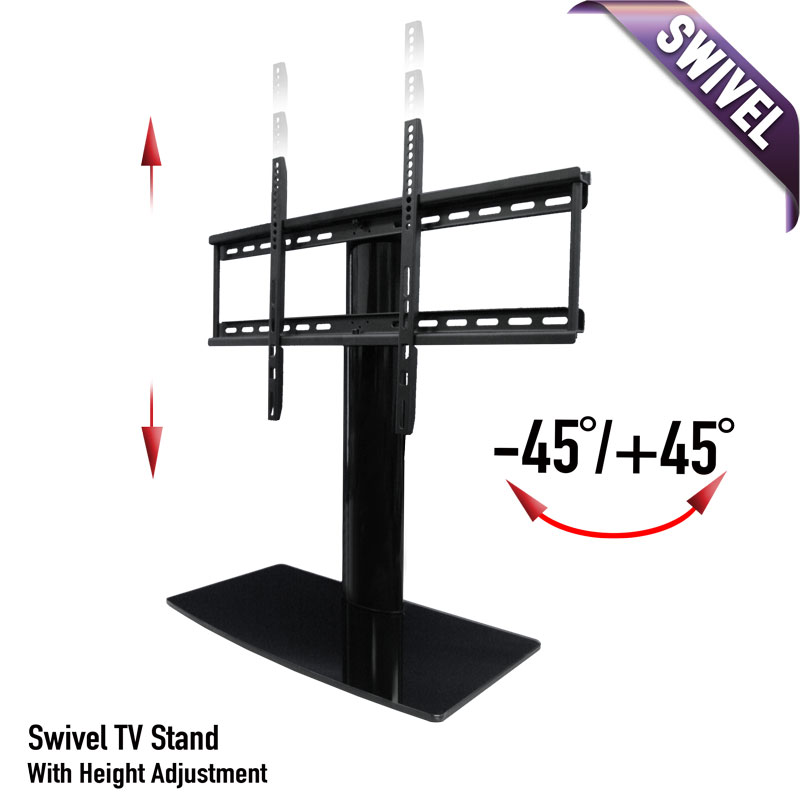 Universal Tabletop Tv Stand Swivel Height Adjustment Av Expresscom