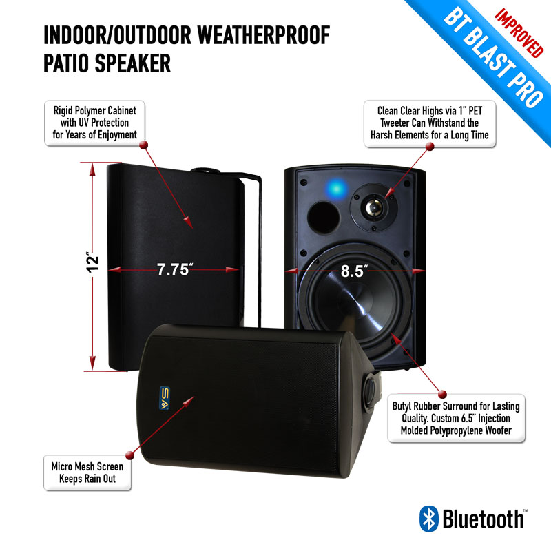 Bluetooth Outdoor Wireless Speaker With Long Range Audio Grade Bluetooth Technology. SA-BLAST6