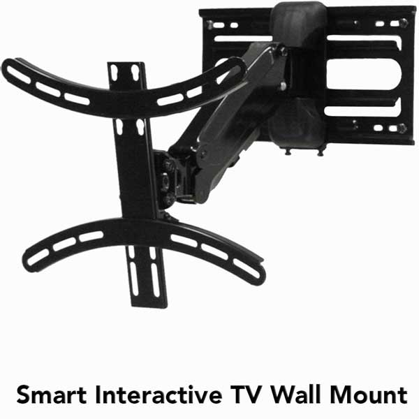 perfect smart tv wall mount w interactive arm with fireplace tv mount pull  down