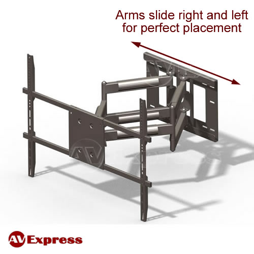 Full Motion Articulating Tv Wall Mount With Long Arm Aeon 45200 Av Express