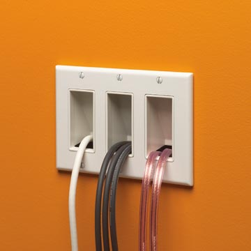 Arlington Cable Entrance Wall Plates The Scoop By