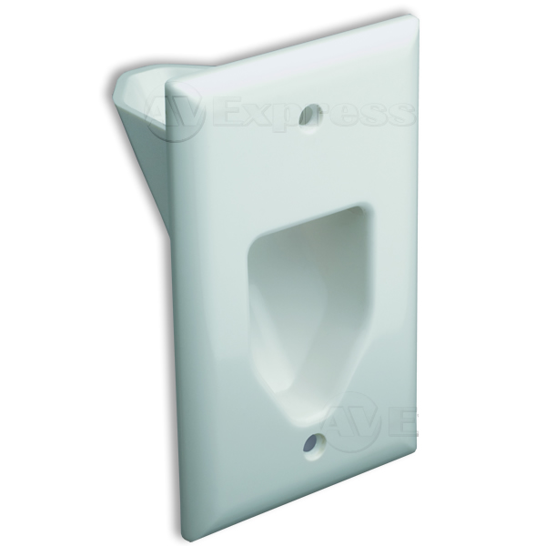 DataComm Electronics 45-0001-WH Single Gang Recessed Wall Plate ...